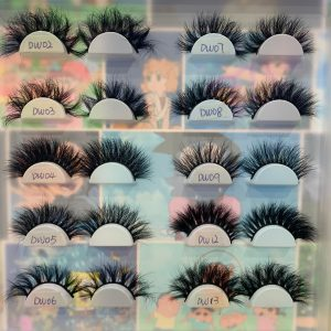 black style false eyelashes
