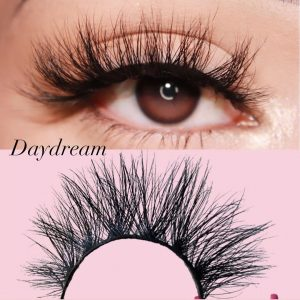 25mm mink eyelash customer show